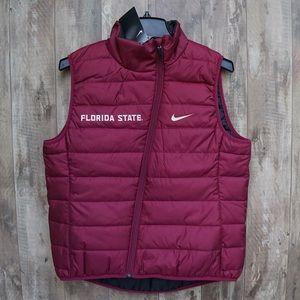 Nike Women's FSU Seminoles Reversible Puffer Vest